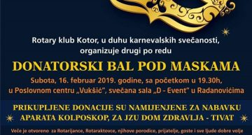 Donatorski bal pod maskama 16.02.2019