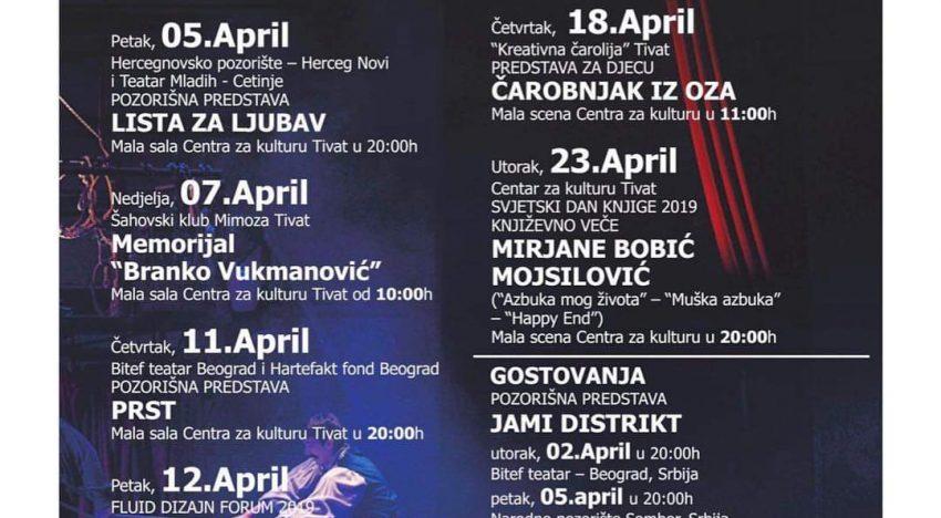 Repertoar Centra za kulturu za april