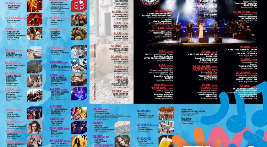 Event Calendar Tivat 2019 – #tivtovanje